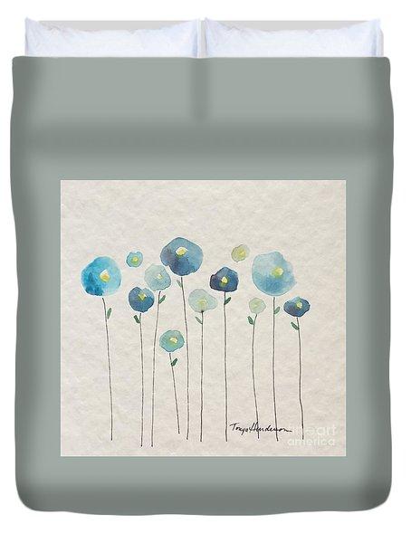 Blue Floral Duvet Cover