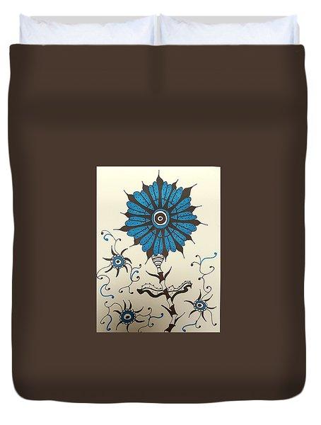 Blue Flower 1 Duvet Cover