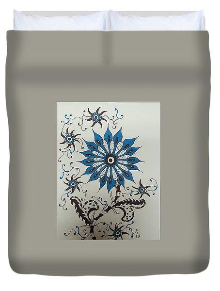 Blue Flower 3 Duvet Cover