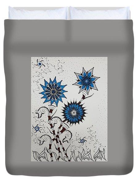 Blue Flower 4 Duvet Cover