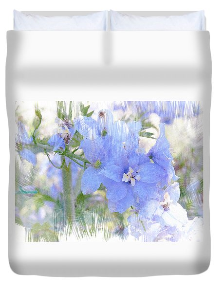 Blue Flower Fantasy Duvet Cover