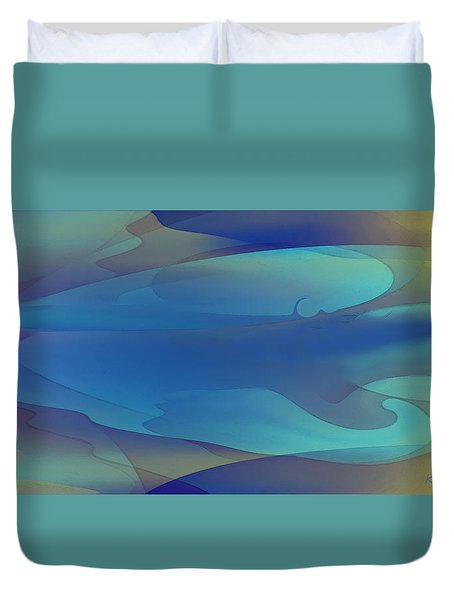 Blue Fog I Duvet Cover