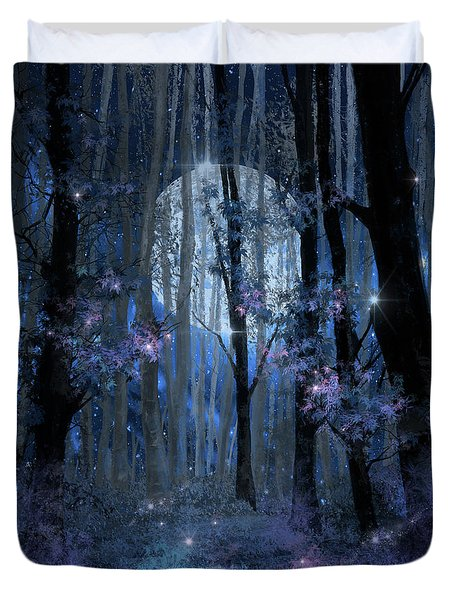 Blue Forest Duvet Cover
