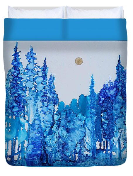 Blue Forest Duvet Cover by Suzanne Canner