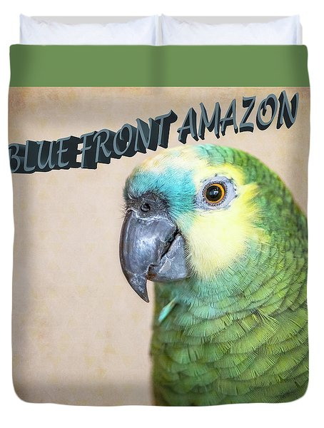 Blue Front Amazon Duvet Cover