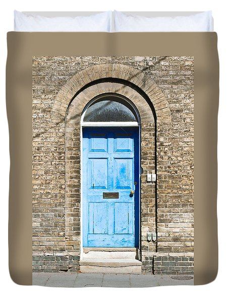 Blue Front Door Duvet Cover