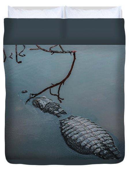 Blue Gator Duvet Cover