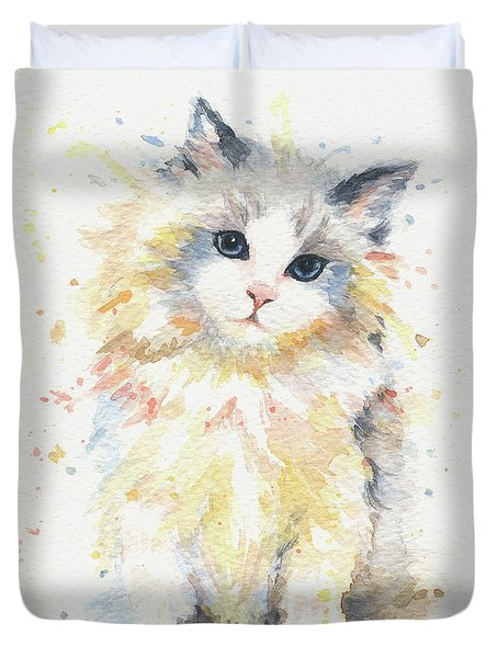 Blue-gem Ragdoll Cat Duvet Cover