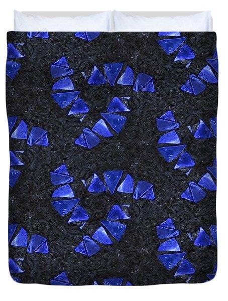 Blue Glass  Duvet Cover by Maria Watt