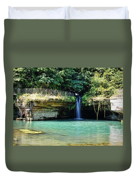Duvet Cover featuring the photograph Blue Glory by Cricket Hackmann