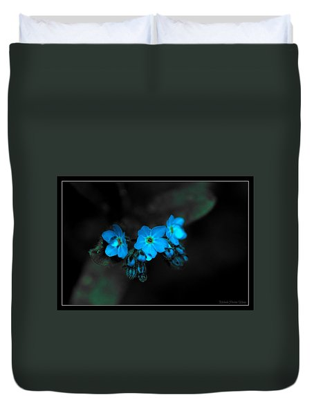 Blue Glow Duvet Cover
