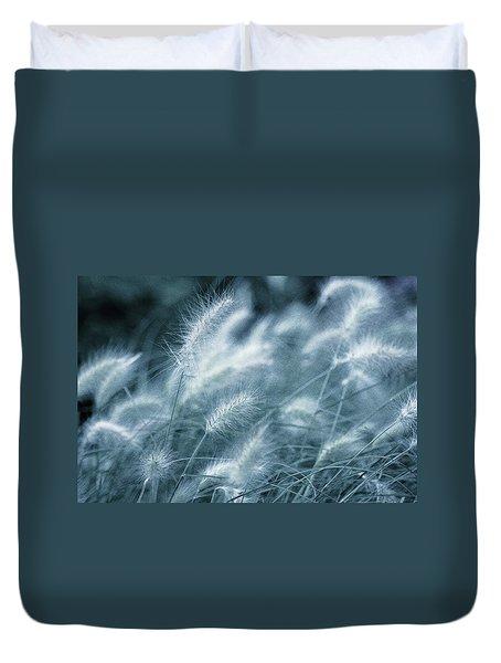 Blue Gras Duvet Cover