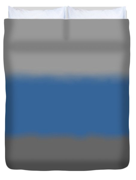 Blue-gray Storm - Sq Block Duvet Cover