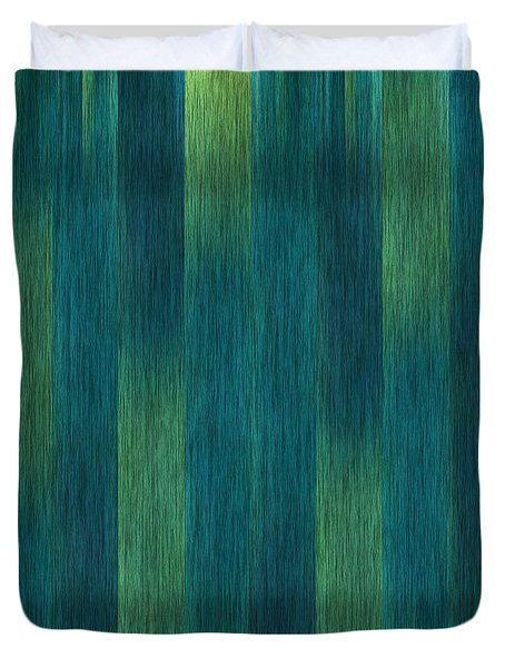 Duvet Cover featuring the photograph Blue Green Abstract 1 by Terri Harper