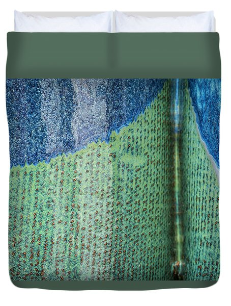 Duvet Cover featuring the photograph Blue/green Abstract by David Waldrop