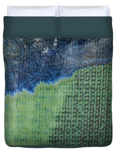 Duvet Cover featuring the photograph Blue/green Abstract Two by David Waldrop
