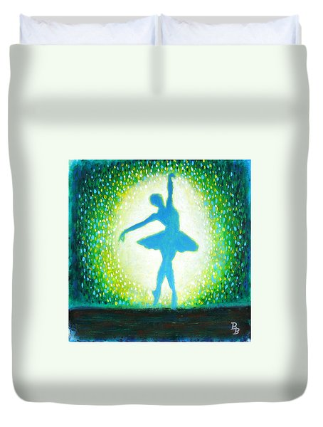Blue-green Ballerina Duvet Cover