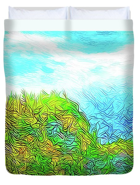 Blue Green Mountain Vista - Colorado Front Range View Duvet Cover