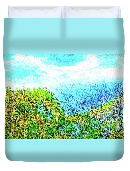 Blue Green Mountain Vista - Colorado Front Range View Duvet Cover by Joel Bruce Wallach