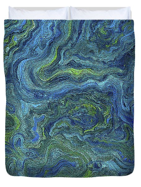 Blue Green Texture Duvet Cover
