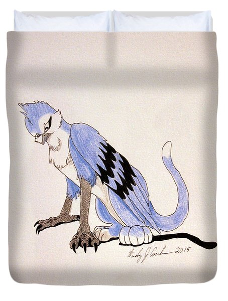 Blue Griffinjay Duvet Cover by Wendy Coulson