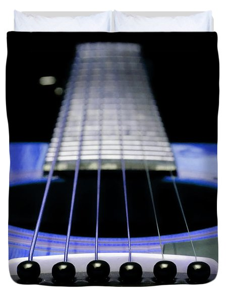 Blue Guitar 14 Duvet Cover by Andee Design