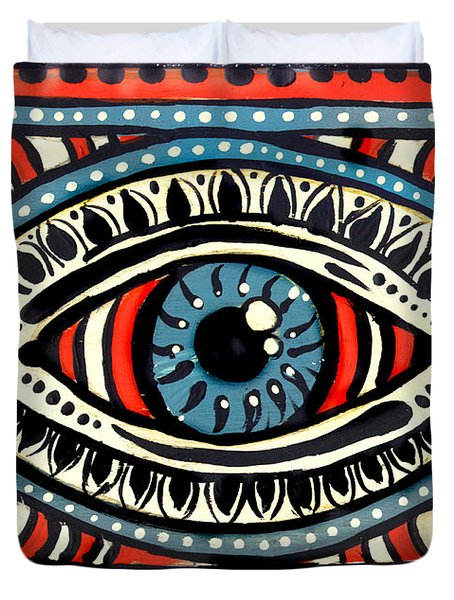 Blue Gypsi Eye Duvet Cover
