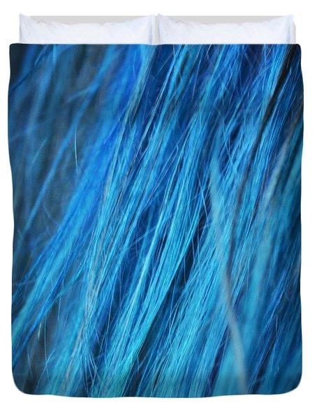 Blue Hair Duvet Cover
