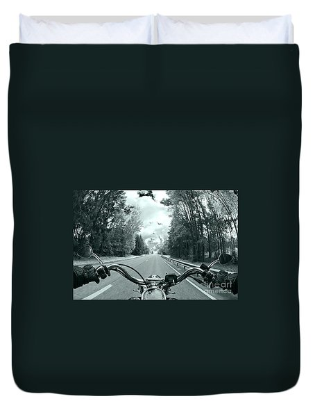 Blue Harley Duvet Cover by Micah May