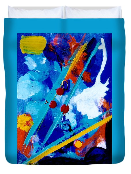 Blue Harmony  #128 Duvet Cover by Donald k Hall