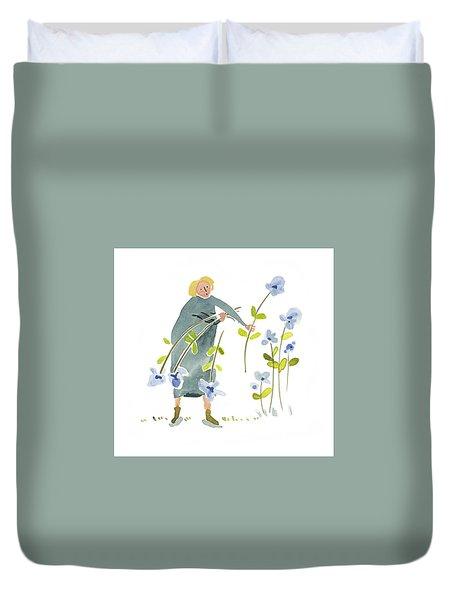 Blue Harvest Duvet Cover by Leanne WILKES