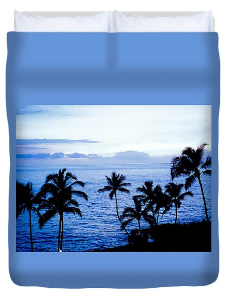 Blue Hawaii Duvet Cover by Russell Keating