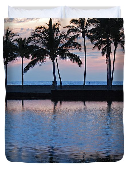 Blue Hawaiian Duvet Cover