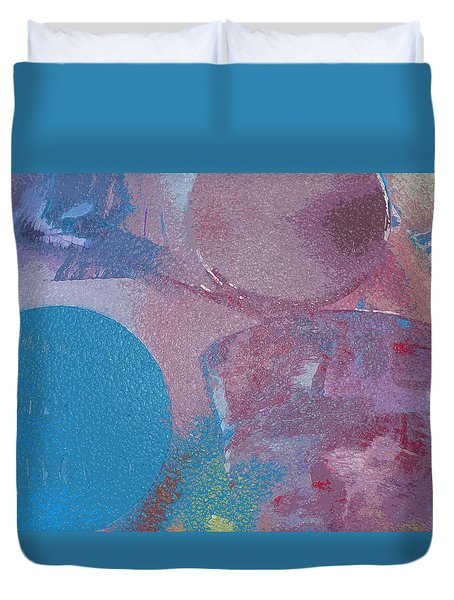 Duvet Cover featuring the painting Blue Haze by Robert Margetts