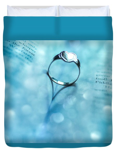 Blue Heart Duvet Cover