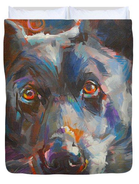 Blue Heeler Duvet Cover by Kimberly Santini