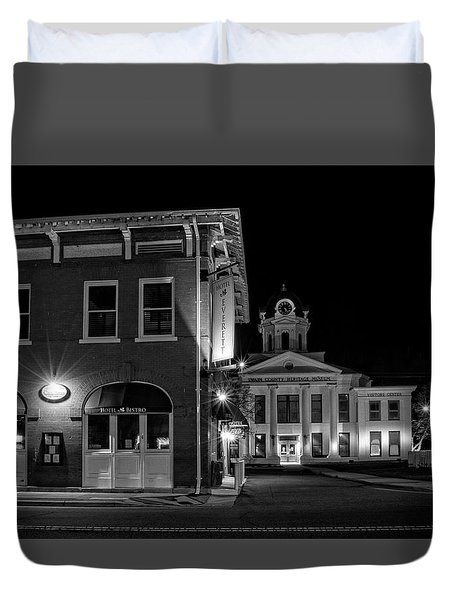 Blue Heritage In Black And White Duvet Cover
