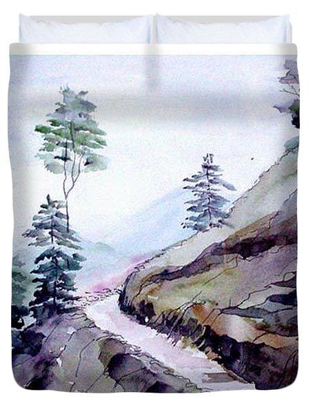 Blue Hills Duvet Cover by Anil Nene