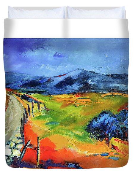 Blue Hills By Elise Palmigiani Duvet Cover