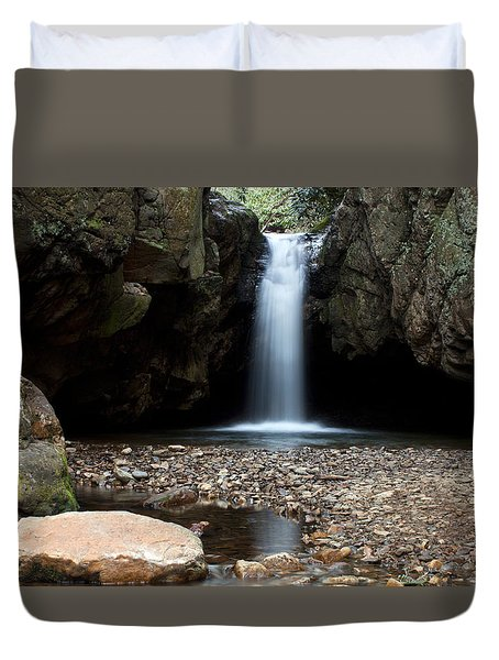 Duvet Cover featuring the photograph Blue Hole In Spring #2 by Jeff Severson