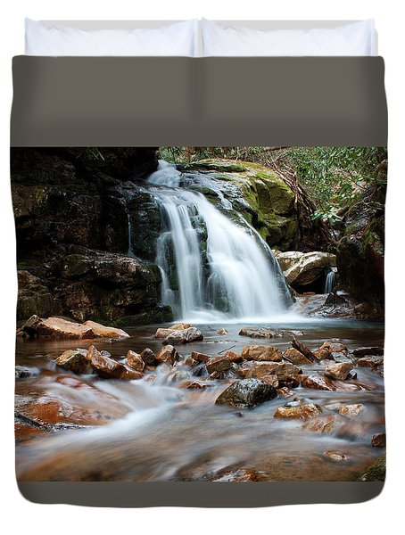 Duvet Cover featuring the photograph Blue Hole In Spring #3 by Jeff Severson