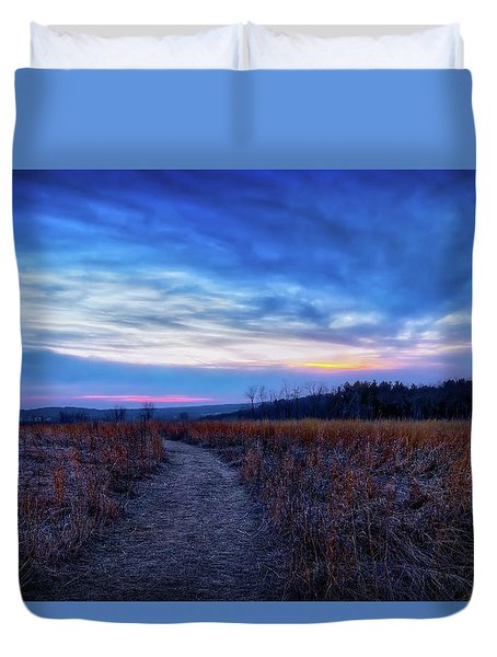 Blue Hour After Sunset At Retzer Nature Center Duvet Cover by Jennifer Rondinelli Reilly - Fine Art Photography