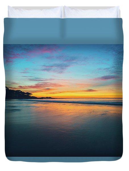 Blue Hour At Carmel, Ca Beach Duvet Cover