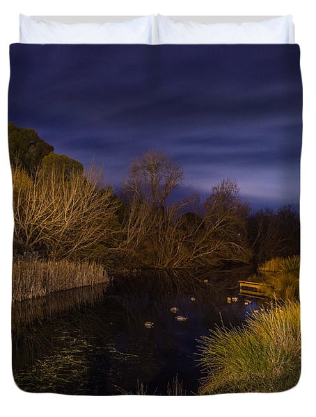Blue Hour At The Richmond River Duvet Cover