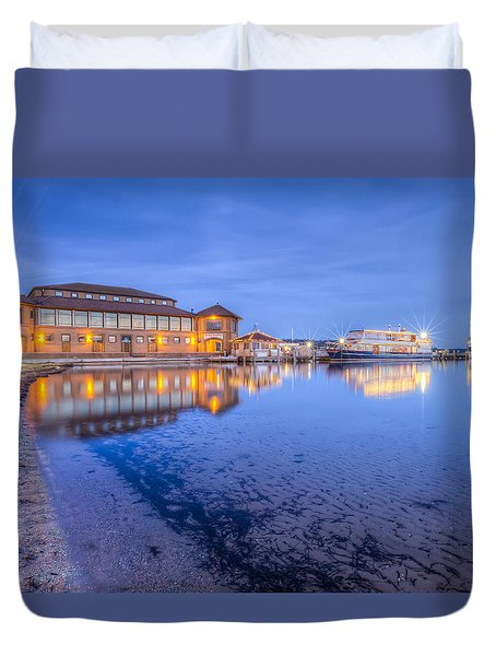 Blue Hour At The Riviera Duvet Cover