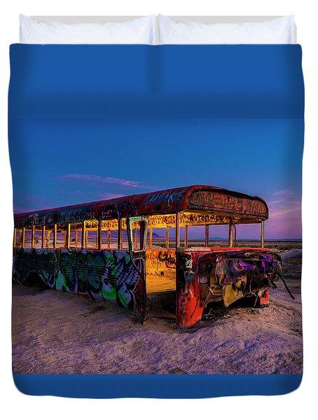 Blue Hour Bus Duvet Cover