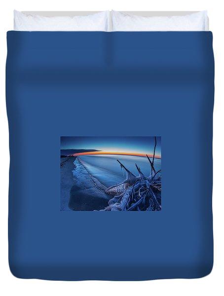 Blue Hour Fisheye Duvet Cover