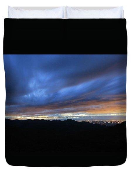 Blue Hour In Shenandoah Duvet Cover