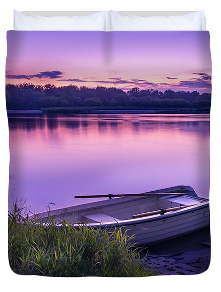 Blue Hour On The Vistula River Duvet Cover by Dmytro Korol