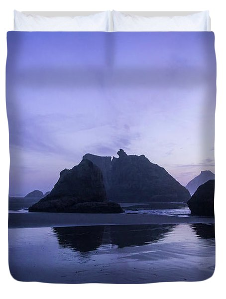Blue Hour Reflections Duvet Cover
